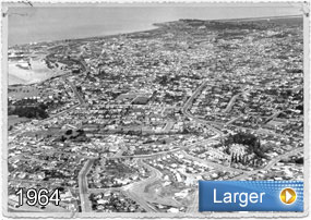 Timaru History, view of the city in the 1940s
